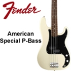 Fender American Special Precision Bass, Rosewood, Olympic White