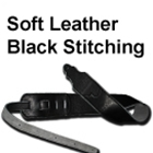 "Franklin Straps Original Series 2.5"" Glove Leather Black/Black Stitch"