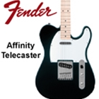 Fender Affinity Series<SUP><SMALL>TM</SMALL></SUP> Telecaster&#174;, Maple Fingerboard, Black
