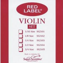 Super Sensitive Red Label Set Violin 1/2