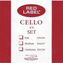 Super Sensitive Red Label Set Cello 3/4