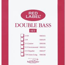 Super Sensitive Red Label Set Bass Regular 3/4